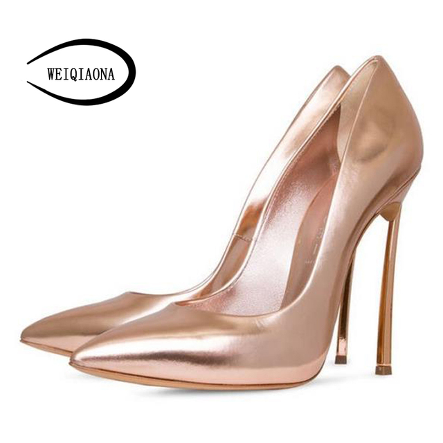 9888a08c46 Aliexpress.com : Buy WEIQIAONA Sturdy steel pipe heel Sexy High quality  metal PU Women's singles shoes Vintage women pumps Work Dress Party shoes  from ...