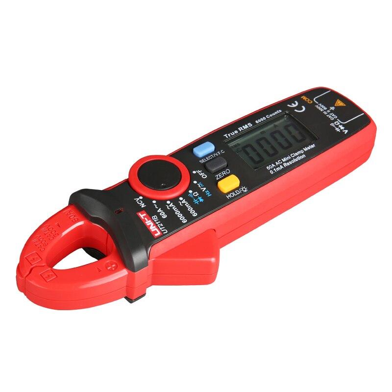UNI T 60a verdadeiro rms mini medidor de braçadeira ut211a ut211b ncv/lcd backlight amperímetro vfc medição freqüência - 2