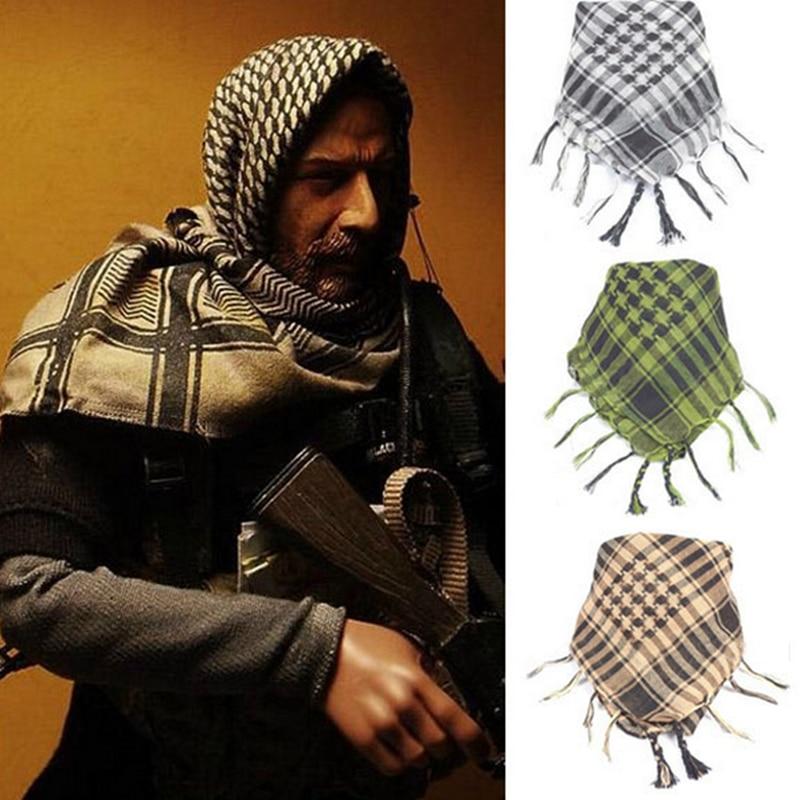 Nuevo bufandas árabes hombres de invierno militar a prueba de viento de algodón fino Wraps Hijab