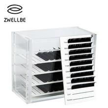 Ящик для хранения ресниц, акриловый Органайзер для наращивания ресниц, органайзер для ресниц, инструменты для наращивания ресниц