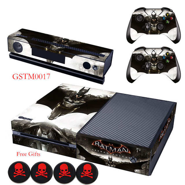 Batman arkham knight vinyl skin anti slip protective decal sticker gifts for xbox one