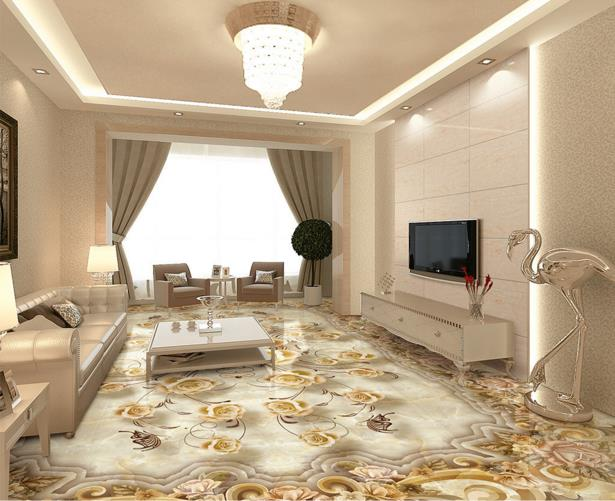 Custom 3d stereoscopic flooring wallpaper dolphin lagoon 3d floor murals self-adhesive waterproof PVC wallpaper 3d floor tiles custom mural 3d flooring picture pvc self adhesive european style marble texture parquet decor painting 3d wall murals wallpaper