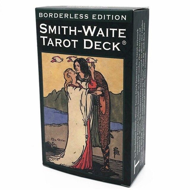 Full English Borderless Smith Tarot  Cards Smith Tarot Deck Board Game Family Playing Cards Gift