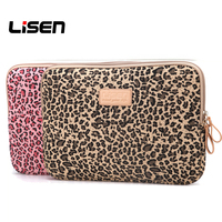 db736749f021f New Portable Notebook Leopard Laptop Sleeve Bag Ultrabook Hand Cover For  Samsung Lenovo Asus Macbook 10