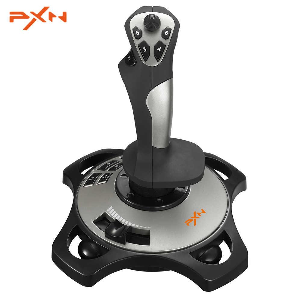 PXN PRO 2113 проводной 4 оси Летающий игровой джойстик настраиваемая Кнопка симулятор контроллер профессиональный игровой