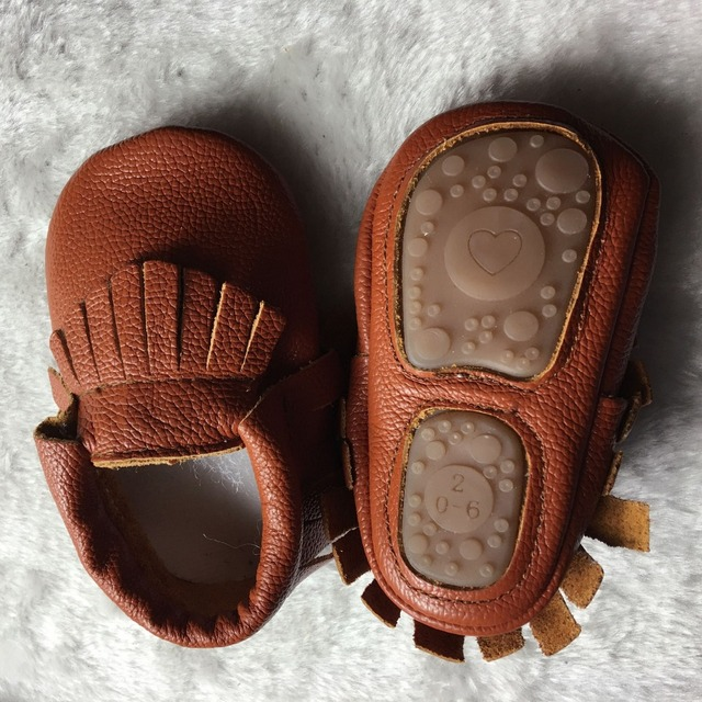 2019 New hot sale Solid Genuine Leather Girl Boys handmade Toddler hard sole first walkers baby leather Shoes 20 colors 3