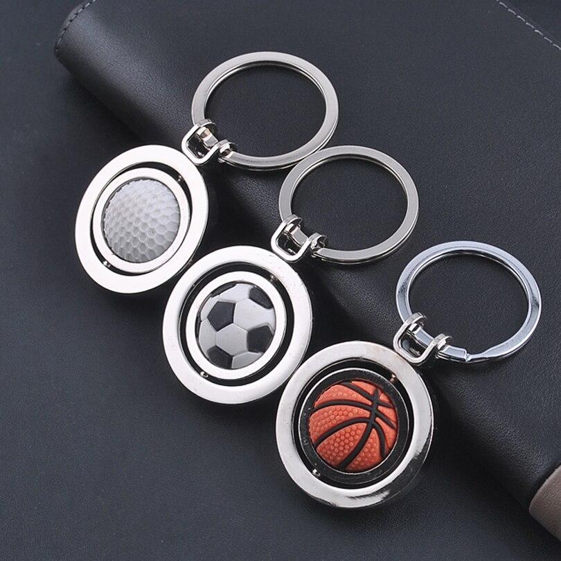 Mens Basketball Sport Car Keychain Key Ring Key Fob Pendant Rotary Metal Gift