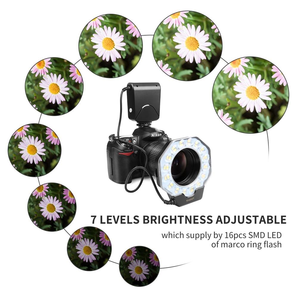 Disparo para la cámara digital La luz de flash del anillo macro para - Cámara y foto - foto 5