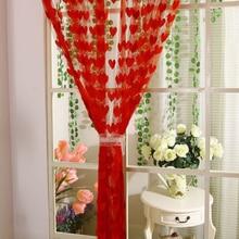 Sweet Heart Tassel String Door Curtain Window Room Curtain Divider Rod Pocket Low Price Wholesale