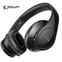 Newest Picun C16 Foldable Headphone Wired Hybrid Technology Line-Type Earphone with Noise Cancelling Microphone for PCMP5Phon