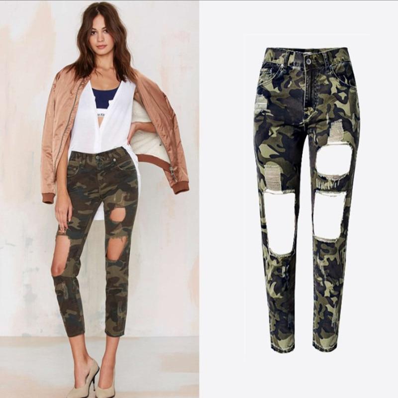 Online Get Cheap Women Camouflage Boyfriend Jeans -Aliexpress.com ...