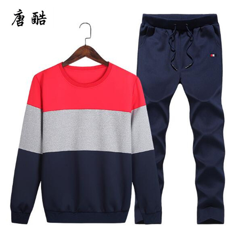Plus Size 4XL Casual Mens Sportswear Set 2 Pieces Set Sweat shirts Set Mens Suits Mens Design Tracksuit Sets