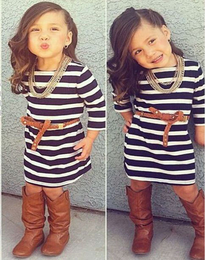 Popular Black White Striped Toddler Dress-Buy Cheap Black White ...