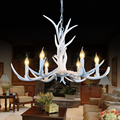 6 Heads American Deer Chandeliers Decoration,Europe Country Style Retro Antler Pendant Lamp Lights Fixture E14 110-220V
