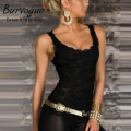 Burvogue HOT Sales beleza on line New mulheres Clubwear Tops New Sexy Exquisite Lace preto regatas