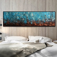Modern Palette Knife Oil Painting On Canvas Living Room Artwork Home Wall Decor Abstract Landscape Picture Gift For Lovers