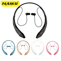 NAIKU Bluetooth Headset Wireless Sports Stereo Headphone Bluetooth Earphone Support Microphone Handsfree Calls For LG Iphone