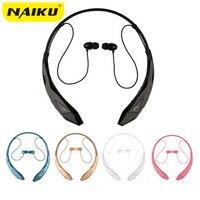 NAIKU Bluetooth Headset Wireless Sports Stereo Headphone Bluetooth Earphone Support Microphone Handsfree Calls For LG Iphone