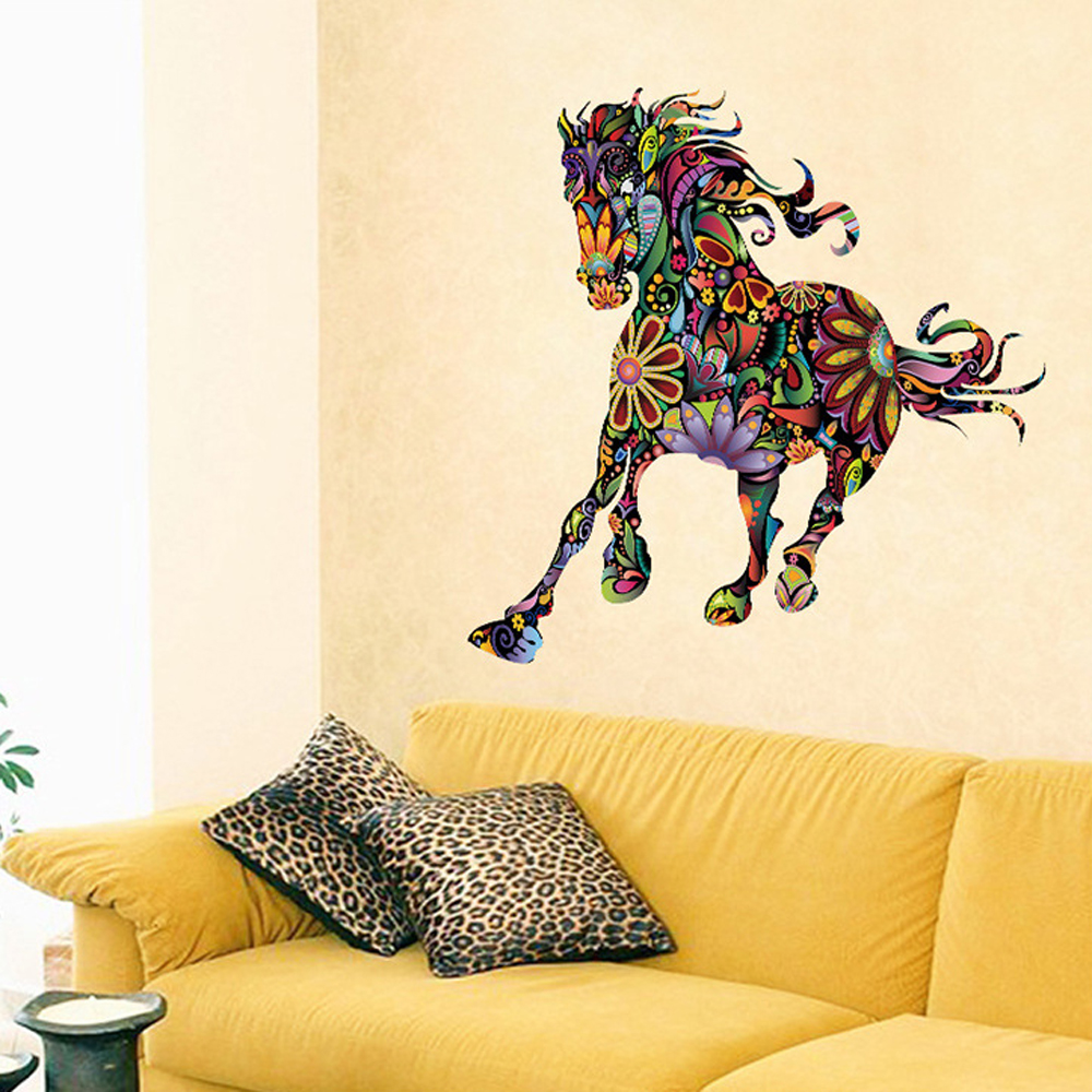Cartoon Personalized Horse Pattern Wall Sticker DIY Home Decor for ...