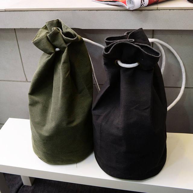 b0980581d39 Canvas Drawstring Sports Bucket Army Bags Basketball Storage Bag Gym  Backpack Women Fitness Men Outdoor Trainning Bag XA265WD