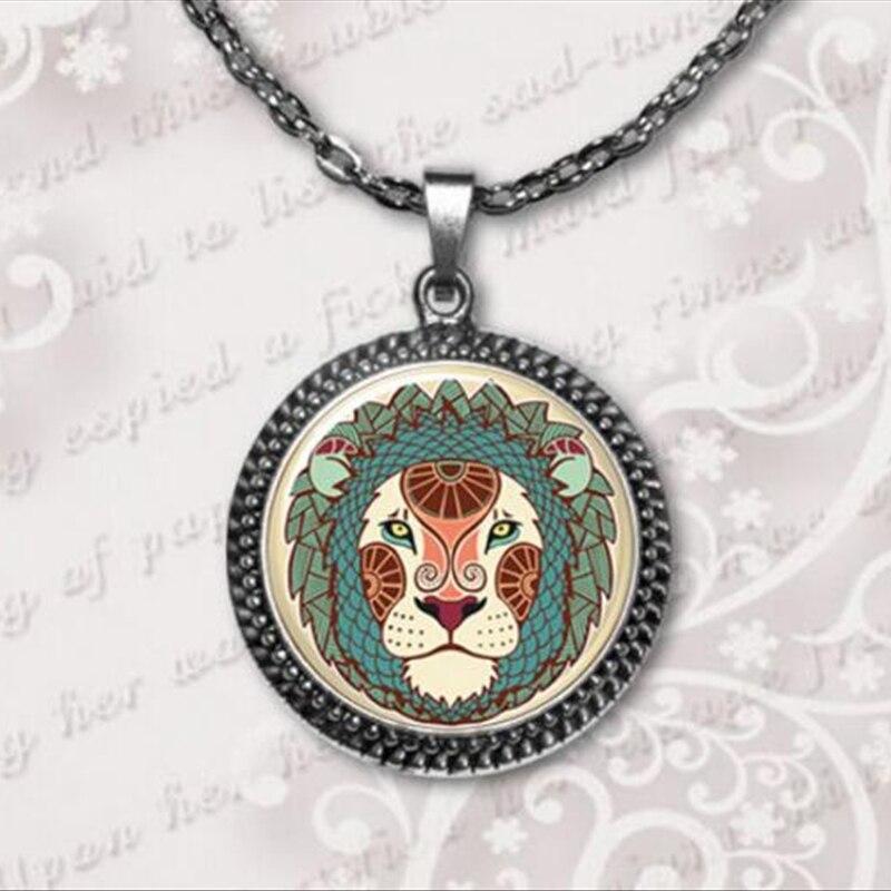 2017 New Leo pendant zodiac pendant necklace photo jewelry Zodiac sign jewelry Horoscope colares femininos A-087 HZ1 ...