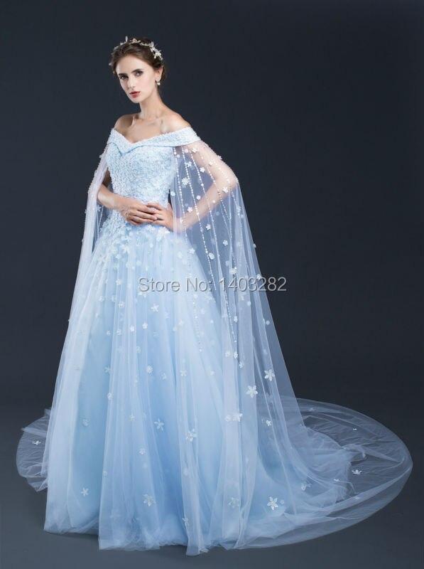 Blue Beach Wedding Gowns