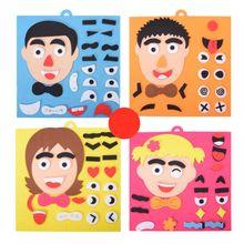3D функции лица пазлы головоломки DIY обучающие Игрушки для раннего развития для детей интерактивный Родитель Ребенок распознавание поезд