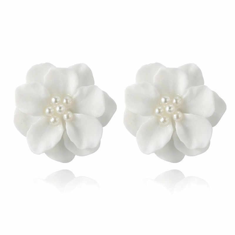 韓国素敵な白花の真珠のペンダントサークルイヤリングファッションデザイン美しい特別なアクセサリードロップシッピング