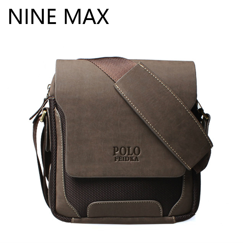 Men Polo Brand High Quality Crossbody Messenger Bag Luxury Retro PU Leather Shoulder Bags Fashion Simple Casual Durable Satchel high quality casual men bag