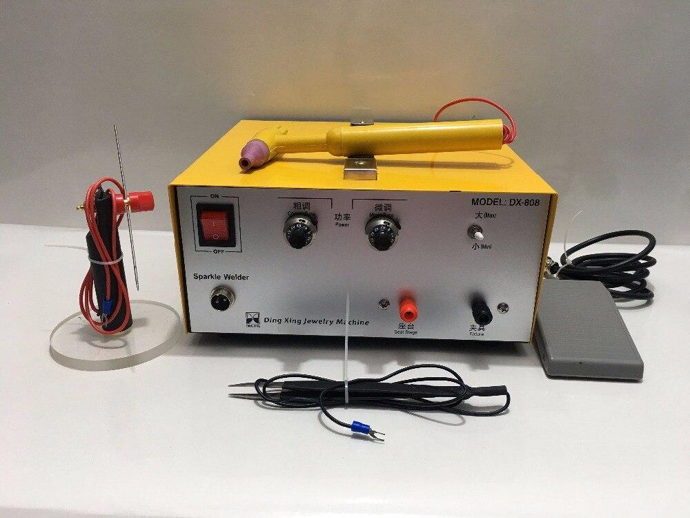 1 pc DX-808 Impulsion Soudeur Or Argent Platine etc. la Machine de Soudure de Bijoux + Oxymètre De Pouls Portatif de soudage par points poignées