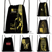 Custom Volbeat Guitar Gangsters Drawstring Backpack Bag Cute Daypack Kids Satchel (Black Back) 31x40cm#180531-04-76