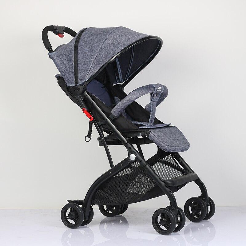 Abdo dla dzieci lekki i wygodny wózek może 175 stopni luksusowe spacerówka z parasolką dla dzieci samochód przenośny wózek dziecięcy w samolocie
