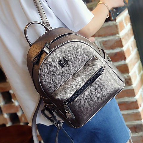 8bb8d8d371c0 2017 Fashion PU Leather Backpacks for teenage girls Cheap Women Backpack  School College Female bagpack Mochila-in Backpacks from Luggage   Bags on  ...