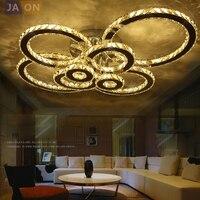 LED Modern Stainless Steel Crystal Rings LED Lamp LED Light Ceiling Lights LED Ceiling Light Ceiling