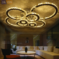 LED Modern Stainless Steel Crystal Rings LED Lamp.LED Light.Ceiling Lights.LED Ceiling Light.Ceiling Lamp For Foyer Bedroom