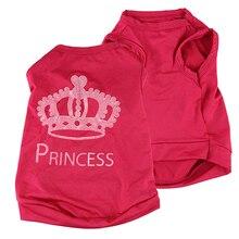 Pet Dog Cat Princess Crown T-shirt