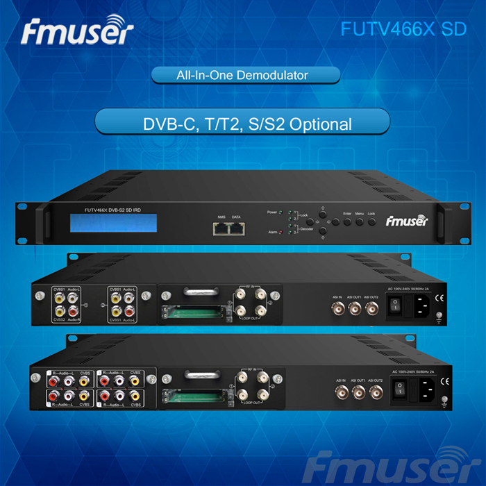 FUTV466X Series SD IRD 2 Tunner CAM HD (DVB-C/T/T2/S/S2 ) In 2 ASI IP Out