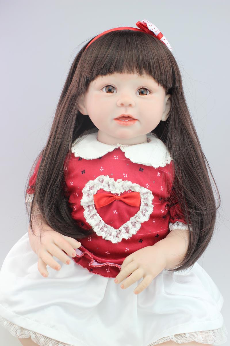 ᑐNew 70CM long ⊰ hair hair reborn toddlers girl dolls ...