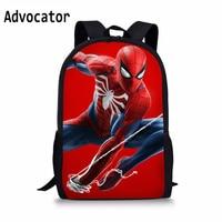 ADVOCATOR Movie Spiderman Role Pattern Kindergarten School Bags Children Backpack for Boy Mochila Escolar College Backpack
