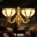 Настенный светильник  светодиодный из медного стекла в европейском стиле
