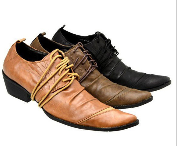 British Mens Real Leather Lace Up Stylish Square Toe Nightclub Dress Shoes F40