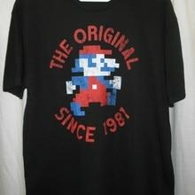 7a81d5e73b4464 Men T shirt Super Mario Bros jumpman the Original Since 1981 funny t-shirt  novelty
