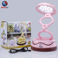 Creative Cake Like Night Light Folding USB Charger Reading Table Lamp Touch LED Lamp Learning Eye