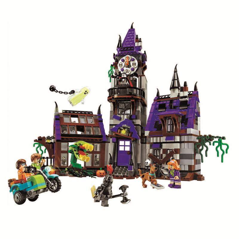 Bela Compatible legoe giftse Scooby Doo Mysterious Ghost House Building Blocks Bricks Toys bela scooby doo haunted lighthouse building block model kits scooby doo marvel toys compatible legoe