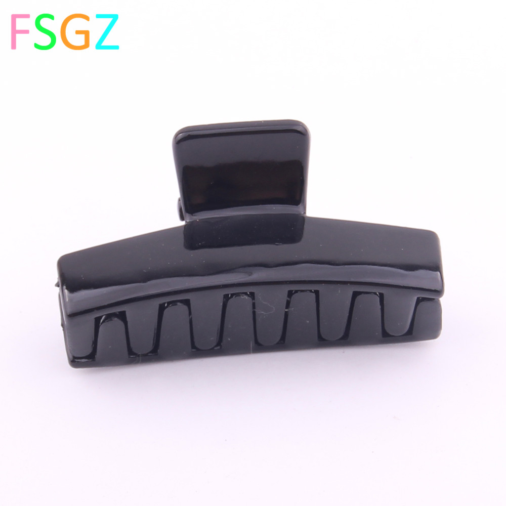 12 PIECES New Fashion Mini Hair Claws High Quality ABS Plastic Hair Clips For Girls simple black hair crab accessory ON SALES in Hair Accessories from Mother Kids