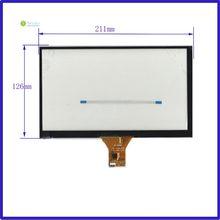 Cable plano de pantalla táctil 211x126/6 líneas 1024x600 pantalla táctil capacitiva de 9 pulgadas pantalla de navegación de DVD para coche/GT911 6 pin/