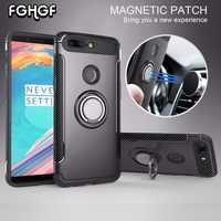 Funda de fghgf para OnePlus 5 caso Marvel silicio duro PC suave anillo armadura para uno Plus 5 5T para uno más 5T 5 Capa