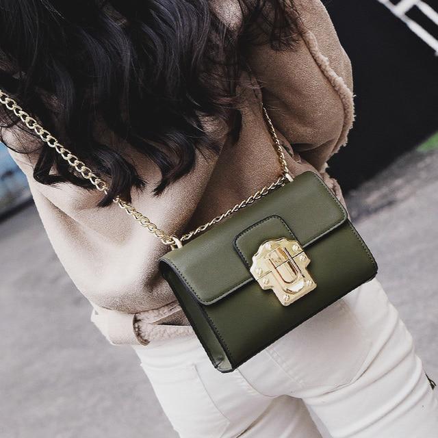 Модные женские цепь сумка женская универсальная сумка цепи одно плечо  маленькая сумка милые d-56988 3f5c2de46c5