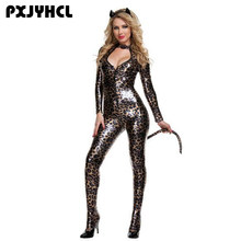Halloween Leopard Wild Cat Cosplay Costume For Women Sexy Party Adult Catsuit Nightclub Jumpsuit Anime Masquerade Fantasia Gift(China)