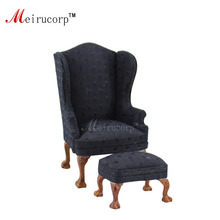 dollhouse 1 12 scale miniature furniture Excellent Handmade Fabric font b chair b font and ottoman